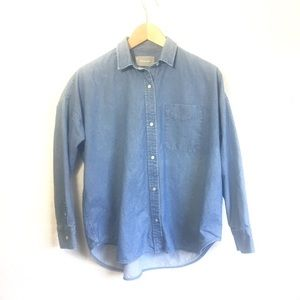 Everlane Relaxed Oversized Jean Shirt Size 2